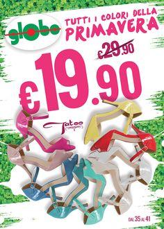 Tutti i colori della primavera!! Freschissime e coloratissime scarpe donna Tatoo in vernice a solo € 19.90 !!