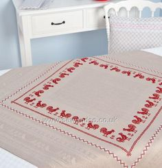 Buy Traditional Rooster Tablecloth, 92 x 92cm Cross Stitch Kit Online at www.sewandso.co.uk