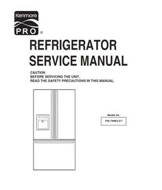 15 Best Kenmore Refrigerator Service Manual images in 2019