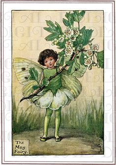 Hey, I found this really awesome Etsy listing at http://www.etsy.com/listing/153838509/may-flower-fairy-vintage-illustration