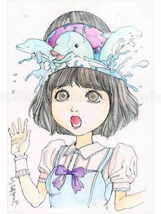 Shintaro Kago Funny Girl 85 original painting