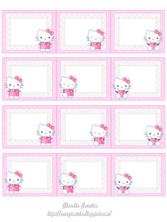 Only for personal use . Notebook Labels, Hello Kitty Invitations, Hello Kitty Cupcakes, Blog Backgrounds, Hello Kitty Pictures, Hello Kitty Birthday, Hello Kitty Wallpaper, Cat Party, Cat Stickers