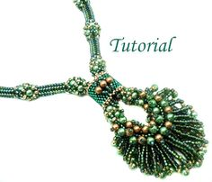 Tutorial Peacock Neklace  Beading pattern PDF by Ellad2 on Etsy, $8.00