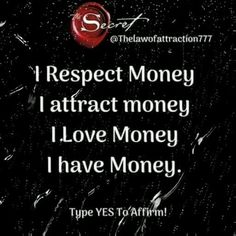 Positive Affirmations Quotes, Wealth Affirmations, Affirmation Quotes, Positive Quotes, Motivational Quotes, Inspirational Quotes, Positive Attitude, Positive Thoughts, Quotes Quotes
