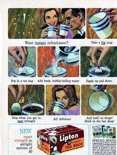 Vintage Lipton tea bags advertisement by AnastasiaC @ percivalroad, via Flickr