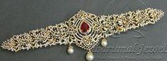 Jewellery Designs: Leafy Work Diamond Vaddanam