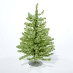 Kurt Adler 18 Sparkling Kiwi Green and Silver Retro Tinsel Table Top Christmas Tree - Unlit Country Christmas Decorations, Farmhouse Christmas Decor, Modern Christmas, Tree Decorations, Tinsel Christmas Tree, Tinsel Tree, Christmas Store, Retro Table