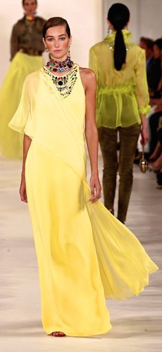 ~Ralph Lauren   Hallelujah! It's Easter morning! Love this yellow vision.
