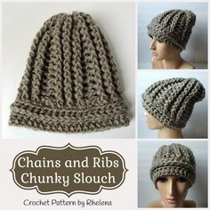 Chains and Ribs Chunky Slouch