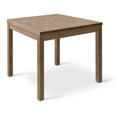 Tavolo quadrato in legno allungabile