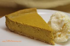 Paleo Pumpkin Cheesecake (dairy-free and nut-free options) - Edible Harmony