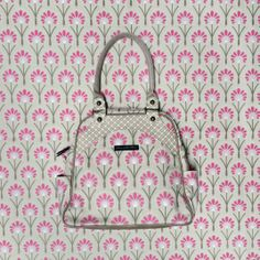 Sashay Satchel in Alluring Azaleas. Organic Cotton Diaper Bag from Petunia Pickle Bottom