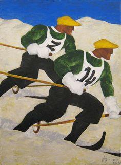 LEVIATANO Vintage Ski, Vintage Travel Posters, Art And Illustration, Illustrations, Japanese Poster Design, Kunst Online, Ski Posters, Retro Poster, Kunst Poster