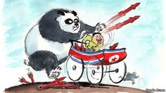 Only China can make North Korea denuclearized. That's why China should participate in the NK sanctions of UN Security Council. Un Security, North Korea, Political Cartoons, Funny Comics, Caricature, Snoopy, Politics, Asian, Fictional Characters