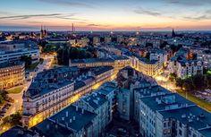 Wrocław na fotografii / Nocna panorama miasta z okolic ul. Szczytnickiej, fot. Jarek Ciuruś