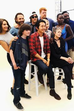 TWD cast... hope they don't kill any of them off. Really like this version of the cast. <3