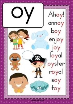 Digraph / Vowel Team OY: Phonics Word Work {Multiple Phonograms} by Lavinia Pop Phonics Flashcards, Phonics Rules, Alphabet Phonics, Phonics Lessons, Jolly Phonics, Phonics Worksheets, Phonics Activities, Work Activities, Phonics Reading