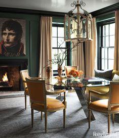 Luxury Dining Room Design Ideas For Winter 04 Antique Dining Rooms, Neutral, Living Room Green, Living Rooms, Cool House Designs, Dining Room Design, Montreal, Room Decor, Interior Design