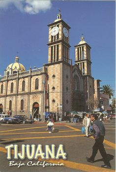 PK0035. Tijuana Baja California, México. Cathedral de la Virgen de Guadalupe en el centro de la ciudad. Dathedral of the Virgin of Guadelupe in the center of town.