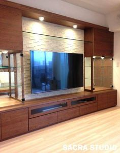 50 wall tv cabinet designs ideas for cozy family room tv cabinet design, Tv Cabinet Design, Tv Wall Design, House Design, Tv Unit Decor, Tv Wall Decor, Wall Tv, Tv Wanddekor, Karton Design, Modern Tv Wall Units