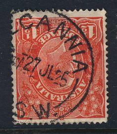 AUSTRALIA - 1925 -  (WI)LCANNIA / N.S.W.  CDS ON SG77 1 1/2d SCARLET