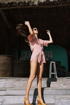 """Talk about easy, breezy, summer days… Arnhem takes relaxed, summer vibes to a whole new level with their """"Melody"""" collection. Pink Fashion, Boho Fashion, Chic Outfits, Fashion Outfits, Summer Outfits For Teens, Fashion Poses, Types Of Fashion Styles, Spring Summer Fashion, Editorial Fashion"""