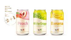 Flavor Makgeolli Can on Behance Juice Packaging, Beverage Packaging, Bottle Packaging, Pretty Packaging, Bottle Labels, Canned Juice, Strawberry Milk, Japan Design, Packaging Design Inspiration