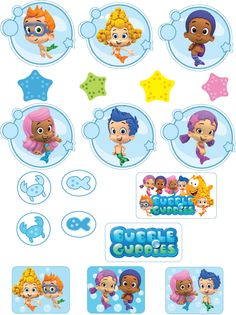 {Free} Printable Bubble Guppies Stickers – My WordPress Website Frozen Birthday Party, 3rd Birthday Parties, Birthday Party Favors, 2nd Birthday, Birthday Ideas, Bubble Guppies Cake, Bubble Guppies Birthday, Bubble Guppies Centerpieces, Character Activities