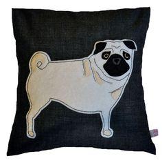 Pug cushion by Lettie Belle