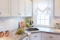 by Formica Group Soapstone Sequoia - Affordable Kitchen Renovation - Interior Design Lynchburg Virginia Cheap Countertops, Concrete Countertops, Kitchen Countertops, Kitchen Cabinets, White Cabinets, Kitchen Backsplash, Kitchen Renovation Design, Kitchen Design, Kitchen Renovations