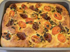 focaccia z salami Vegetable Pizza, Quiche, Thumbnail Image, Vegetables, Eat, Breakfast, Food, Morning Coffee, Essen