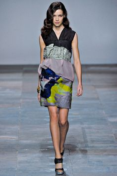 Love blue lime lilac black and grey.  By Michael Van Der Ham. Fall 2012
