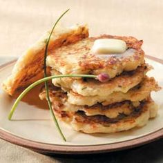 Parsnip pancakes. Have been making these for the holidays for years, they always disappear!