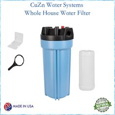 Pure, delicious water throughout your entire home. Enjoy a healthier, happier lifestyle by installing CuZn's compact filtration system anywhere prior to the hot water heater.