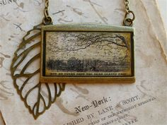 Poem Statement Necklace  The Rainy Day  by TheLysineContingency, $14.00
