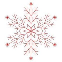 Redwork Snowflakes 1 04(Md) machine embroidery designs