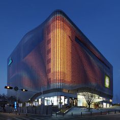 Galleria Centercity Department Store, Cheonan, South Korea UN Studio Light Architecture, Futuristic Architecture, Amazing Architecture, Contemporary Architecture, Landscape Architecture, Interior Architecture, Building Facade, Building Design, Habitat Collectif