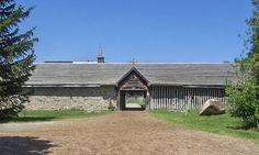 Midland Ontario:   Ste.-Marie-Among- The-Hurons is a French Jesuit settlement built in 1639. It's the first settlement built in Ontario.