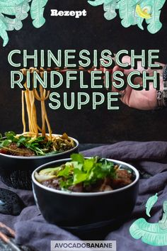 Chinesische Rindfleischsuppe - 牛肉 麵 - Avocado-Banane, Avocado, Asian Recipes, Food Inspiration, Beef, Cooking, Banana, Asian Cuisine, Chinese, Easy Meals