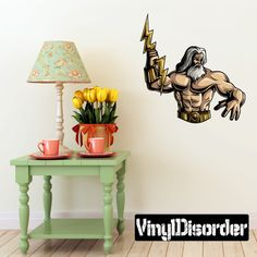 Greek God Zeus Wall Decal - Vinyl Car Sticker - Uscolor018