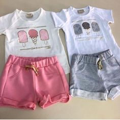 Girls Fashion Clothes, Toddler Fashion, Kids Fashion, Fashion Outfits, Carters Baby Clothes, Cute Baby Clothes, Boys Summer Outfits, Cute Outfits For Kids, Frocks For Girls