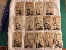 Victorian Advertising Trade Card Lot (14) US Presidents Hartford CT Lincoln Wash