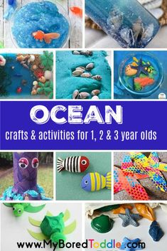 If you are looking for under the sea crafts and activities for toddlers then weve got you covered! This great collection of toddler activities for an under the sea theme will definitely keep your toddler busy for a while! Under the Sea Crafts & Activities Toddler Fun, Toddler Preschool, Toddler Crafts, Summer Activities For Toddlers, Sea Activities, Day Care Activities, Young Toddler Activities, Indoor Activities, Infant Activities