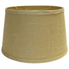 "Coordinate while accenting décor with this Natural Beige Burlap Lamp Shade. Fits most standard lamp bases.     	Measurements: 13"" x 16"" x 10"""