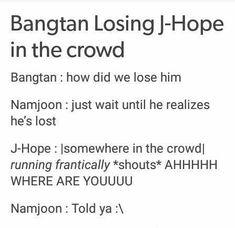 Bts losing jhope in a crowd jin army meme kpop Bts Bangtan Boy, Bts Boys, Bts Jin, Jimin, Hoseok, Namjoon, Seokjin, Taehyung, Jikook