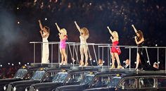 (Photo of the Spice Girls reunited during the closing ceremonies of the 2012 London Olympics by Chang W. Lee / The New York Times) New York Times, Ny Times, I Have Been Waiting, Summer Games, Girls World, London Photos, Spice Girls, Barbie World, Olympians