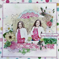 Layout featuring Girl Land collection by Webster's Pages, July LE kit.