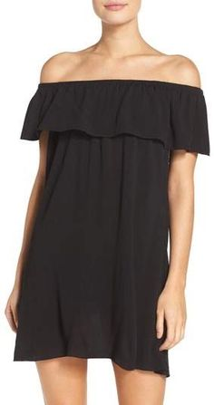Becca Southern Belle Off the Shoulder Cover-Up Dress