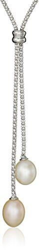 """Bella Pearl Double Dangling Pendant Necklace, 21.75"""" * You can find more details by visiting the image link."""