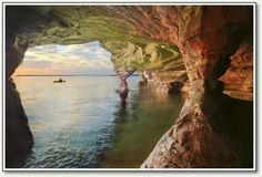 Madeline Island Sea Caves